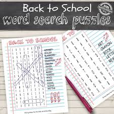 back to word search puzzles free kids printables