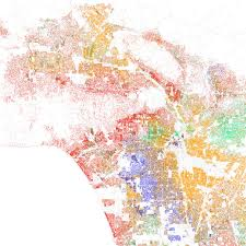 Los Angeles Regions Map by Four Maps Help Tell Story Of Race In America Cbs Chicago What