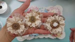 2017 homemade shabby fabric flowers youtube