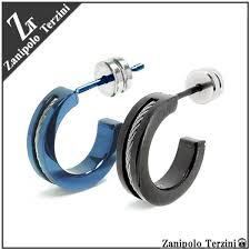 surgical steel hoop earrings shinjuku gin no kura rakuten global market 2 color rope line