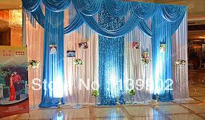 wedding backdrop online the draping style of the blue only in this pic wedding