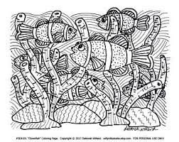 fish coloring page etsy