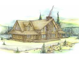 Two Story Log Homes by Andes Rustic Log Cabin Home Plan 088d 0001 House Plans And More