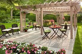 Family Garden Design Ideas - garden nice garden landscaping ideas amusing colourful rectangle