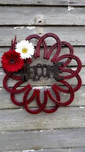 898 best cowboy country crafts images on pinterest horseshoe art high quality handmade welcome sign made out of horseshoes to give your home a western flare we will also work with you if you have a custom look you are