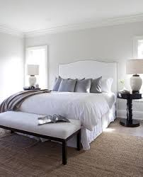 White Cushioned Headboard by White Upholstered Headboard Transitional Bedroom Milton