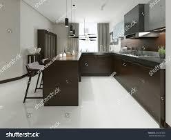 designer kitchen bar stools interior modern kitchen bar bar stools stock illustration
