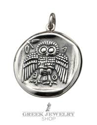 greek wise owl jewelry ancient wise owl necklaces rings pendants