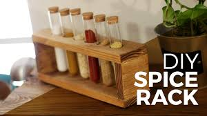 how to make a spice rack diy youtube