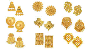 gold ear ring image gold ear studs tanishq 22kt gold stud earrings ear tops