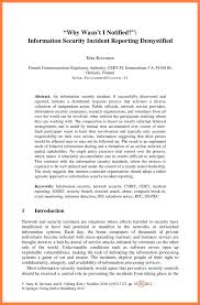 Computer Security Incident Report Template by 11 Information Security Incident Report Template Progress Report