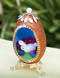 decorated goose eggs fabulous fauxbergé egg how to make a peek a boo easter egg