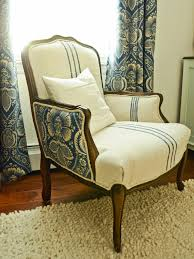 How To Make Furniture Look Rustic by How To Reupholster An Arm Chair Hgtv
