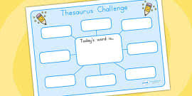 use a thesaurus to improve vocabulary worksheet worksheet