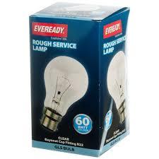 rough service light bulbs eveready incandescent rough service light bulb 60w bc