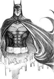 simple drawing sketch batman chibi batman drawing coloured