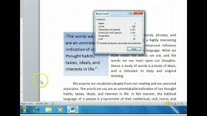 How To Count Number Of Words In Word Document Word 2010 Check Word Paragraph And Character Counts