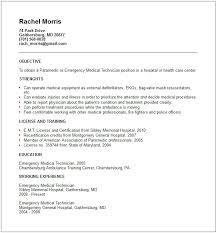 Resume Cover Letter Sample Free by Download Emt Resume Examples Haadyaooverbayresort Com