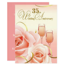 35 wedding anniversary 35 year wedding anniversary cards invitations zazzle co uk