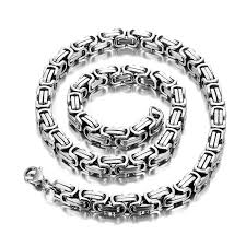 style silver necklace images Impressive mechanic style men 39 s necklace stainless steel silver jpg