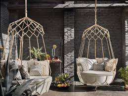 furniture outdoor patio with hanging egg chair comfort the whole