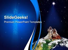 free christian christmas powerpoint templates away in a manger