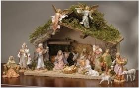 decorate in tuscan style with nativity