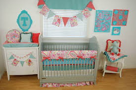 aqua and pink nursery u2014 modern home interiors