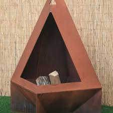 Steel Chiminea Buy A Custom Outdoor Steel Chiminea Fireplace Made To Order From