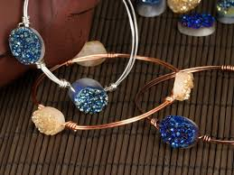 make bracelet beading wire images How to create a wire wrapped bracelet with beads artbeads jpg