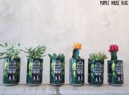 Planters Diy by Diy Beer Can Cactus Planter Purple House Blog