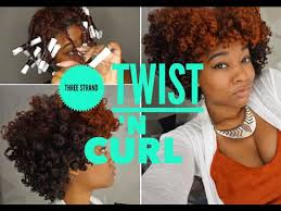 stranded rods hairstyle three strand twist n curl natural hair youtube dayelasoul