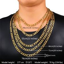 chain necklace sizes images U7 gold color necklace chain men jewelry father gift wholesale 5 jpg