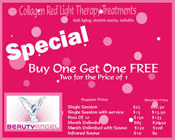 beauty angel red light therapy seasons salon and day spa come try our collagen booth red light