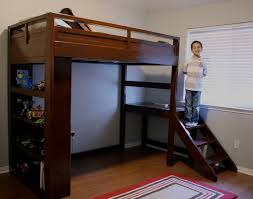 How To Make A Loft Bed With Desk Queen Loft Bed With Desk Plans Best Home Furniture Decoration
