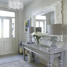 White Hallway Console Table Console Tables Mirrored Hall Console Tables Simply Grey Mirrored