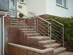 stainless steel external stair railing how to make external