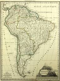 Maps South America by Brun Map Of South America 1812