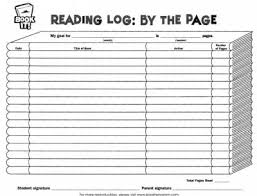 daily home reading log