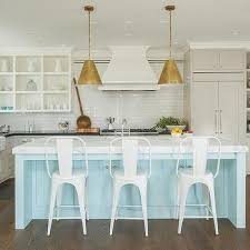 Light Blue Kitchen Cabinets Turquoise Cabinets Contemporary Kitchen Elle Decor