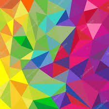 rainbow color triangular vector pattern abstract background
