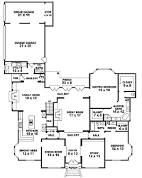 5 bedroom house plans single story ahscgs com 4 3 bath with