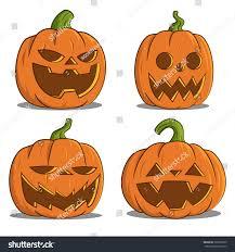 cute jack o lantern clipart pumpkins halloween vector stock vector 302995970 shutterstock