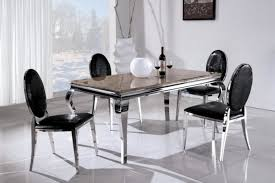 steel dining table set china mordern stainless steel marble dining table and chairs 752