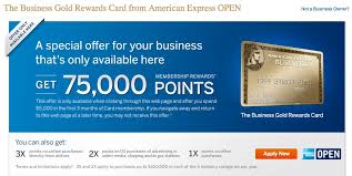 American Express Business Card Benefits 75000 Points For Business Gold Rewards Card From American Express Open