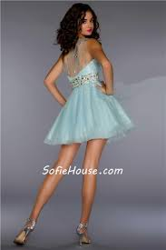 a line one shoulder short mini ice blue sequin tulle homecoming