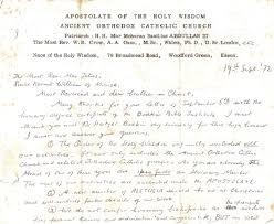 ancient orthodox catholic church and order of holy wisdom