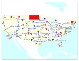 map us interstate system map usa interstate highways major tourist attractions