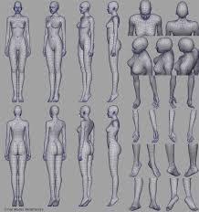 Female Body Reference For 3d Modelling 215 Best Model Sheet Images On Pinterest Character Design