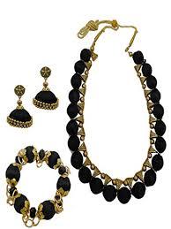 metal necklace designs images Buy my design black thread designer gold plated bridal necklace jpg